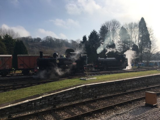 Buckfastleigh, UK: 2017 Winter Gala brought together two locomotives that haven't worked together for 50years The B
