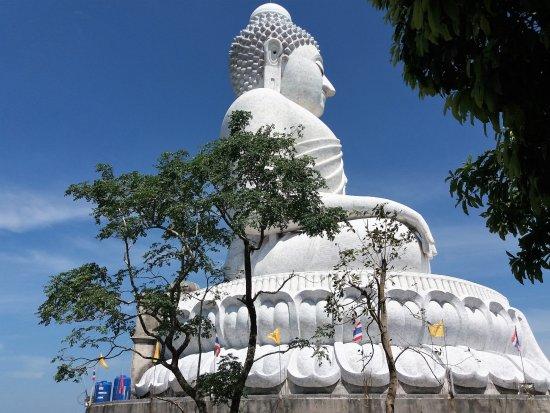 Chalong, Thailand: Big Buddha fra siden
