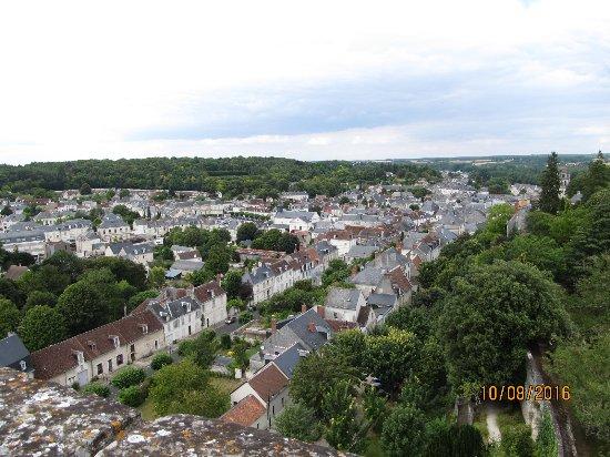 Loches, France: Uitzicht