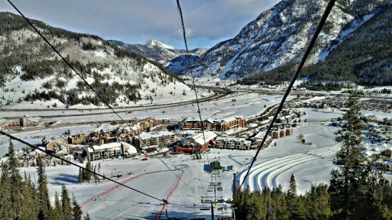 Copper Mountain, CO: View from Superbee lift.