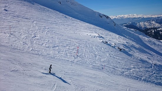 Parnassos, กรีซ: Καταπληκτική θέα που κόβει την ανάσα στα 2080 μέτρα στην κορυφή της πίστας Νο6 στη Φτερόλακα!