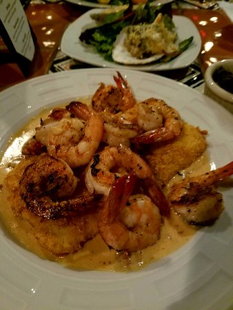 Ocean Lodge: Shrimp and Grits, and Oysters Rockefeller