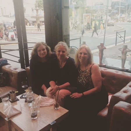 New York - New York: My sisters and I having a relaxing time.