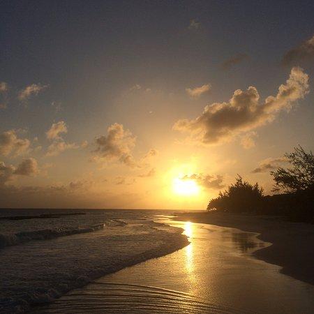 Barbados Beach Club: sun set