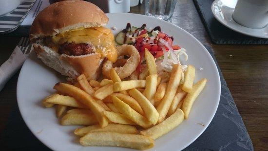 Wigtown, UK: Pork and apple burger