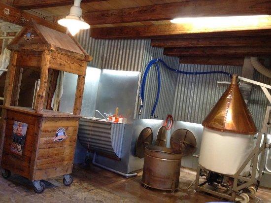 Villarodin-Bourget, France: cuve de brassage