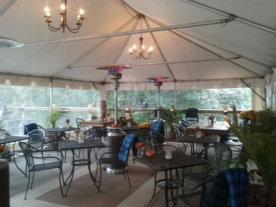 Rosendale, NY: Our cozy tent extends summer into fall.