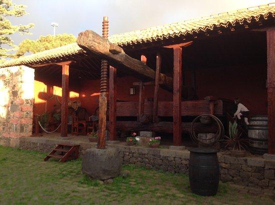 El Sauzal, España: Patio mit Weinpresse