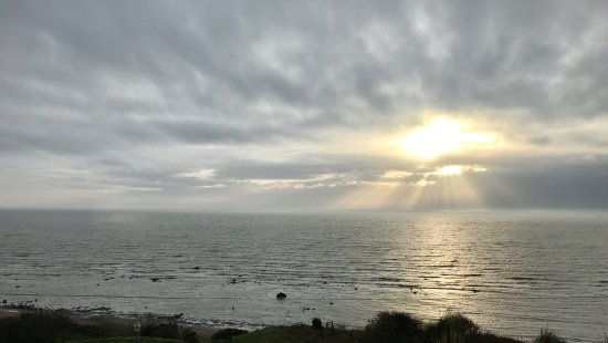 Seascale, UK : Sunset from the hotel