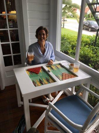 Gasparilla Inn & Club: Backgammon at the Bar.
