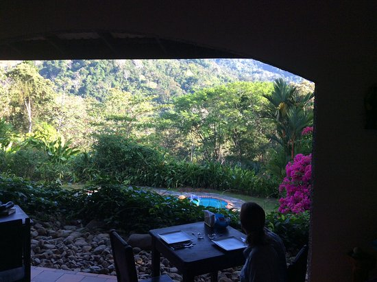 La Cacatua Lodge: From the breakfast table.