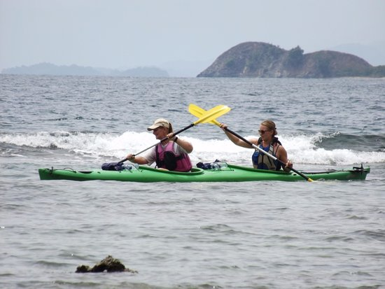 Exploring Bentenan island and some other small islands by sea kayak.