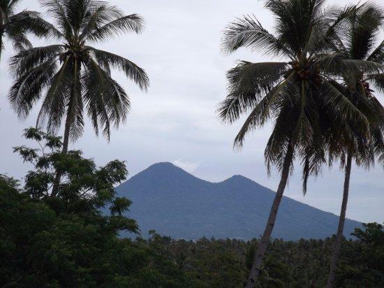 Dua Saudara volcanoes near Bitung.