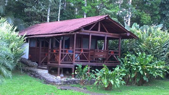 La Anita Rainforest Ranch: One of the cabins. Privacy and space between each one.