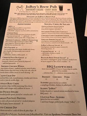 Lititz, Πενσυλβάνια: menu Feb 2017