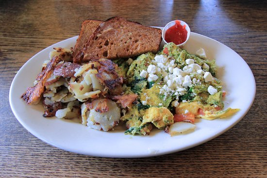 La Conner, WA: Calico Cupboard - Pesto Focaccia Scramble - February 2017