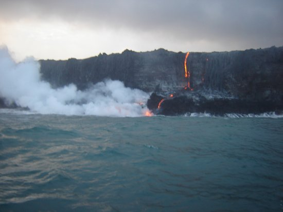 Pahoa, Hawaje: New land being formed right before your eyes!!