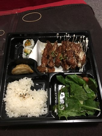 Bribie Island, Australia: The chicken katsu bento box I had the other night. It was so good I'm addicted, have been back s