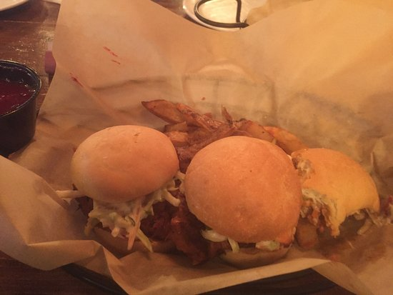 Norwalk, OH: Pork sliders, too good to photo then eat. Had to dig in first