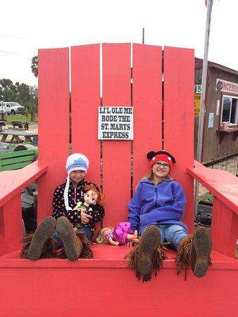 St. Marys, GA: My granddaughter Rylynn & her friend Emily modelling their cute new hats that the bought by the