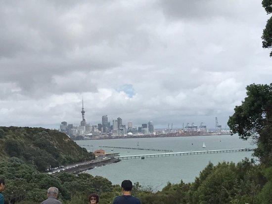 MJ Savage Memorial Park : Excelente vista. Hermoso lugar para una tarde de relax observando la bahía y la ciudad. Tiene ba