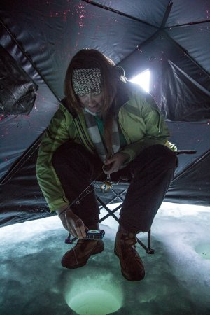 Sun Peaks, Canada: Inside the heated Eskimo tent