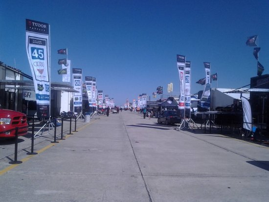 Sebring, FL: Fans can see the cars in the Paddock during the 12 Hours