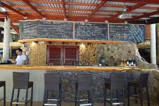 Calibishie, Dominica: View of the bar/menu