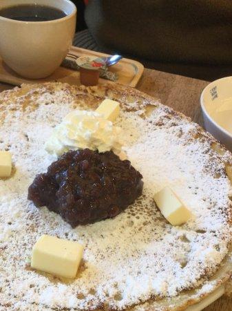 Ibaraki, Japan: この日はデザートパンケーキをアレンジして作ってもらいました。