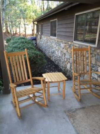 Asheville Cottages: Rocking Chairs Outside