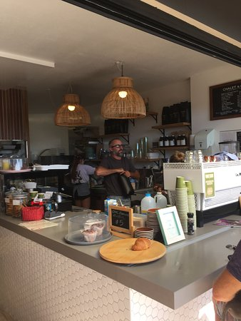 Sunrise Beach, Australia: The very best of baristas, Connie and David will make you welcome and pour the best coffee on th