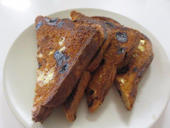 Cafe La Vie: Toasted raisin bread