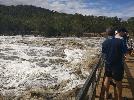 Brigadoon, Australia: Bridge area after Perth received 100mm of rain in a day.