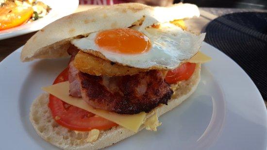 Angels Bayside: Brekky Burger - Feb '17 - tasty!