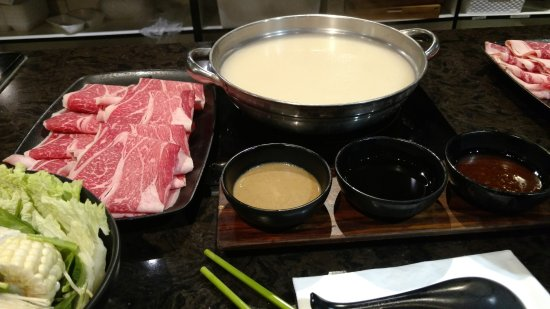 Cerritos, CA: Pork Bone broth with Wagyu