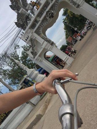 biciceta prestada por el hotel