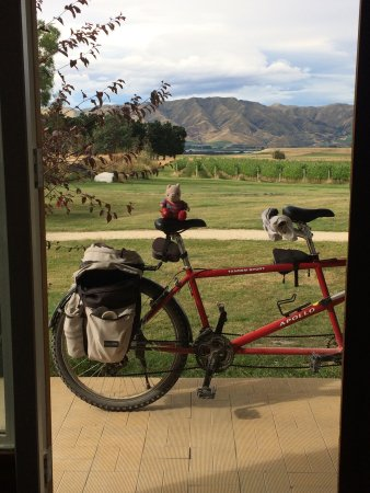 Sublime Lodge: Resting after the long ride - the view from the door of one guest room.