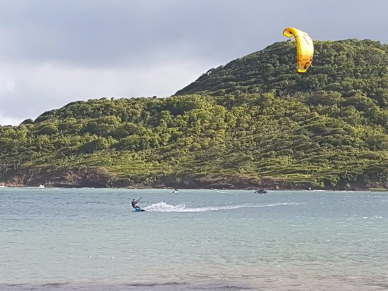 Cas En Bas, St. Lucia: Excellent conditions for kitesurfing