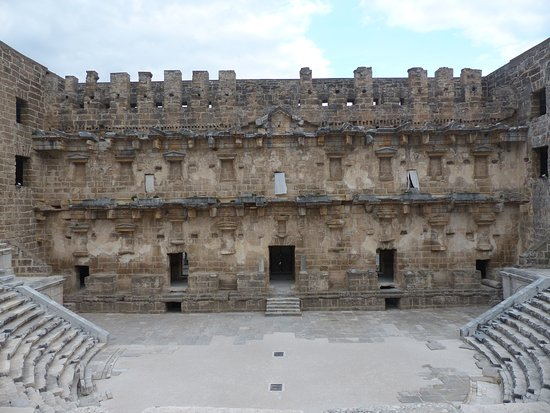 Aspendos Ruins and Theater: The view from the middle row