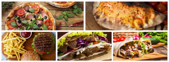 Perth og Kinross, UK: Pizzas, Calzones, Burgers, Kebabs, Wraps