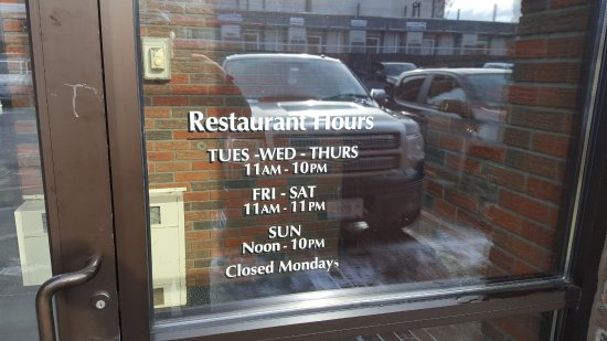 Red Rose Pizzeria: Hours
