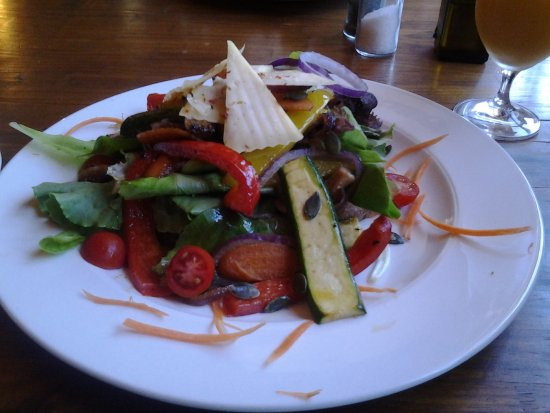Calitzdorp, South Africa: Vegetarian open sandwich - delicious!