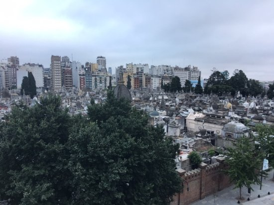 Urban Suites Recoleta Boutique Hotel: View of Recoleta cemetery
