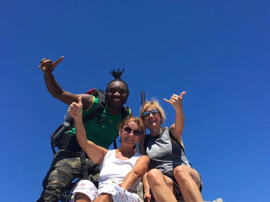 Cape Town, Sudáfrica: With on the top of Table Mountain after a great hike
