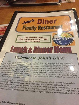 New Cumberland, PA: the menu