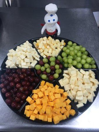 Blackwood, NJ: Cheese and grape tray!