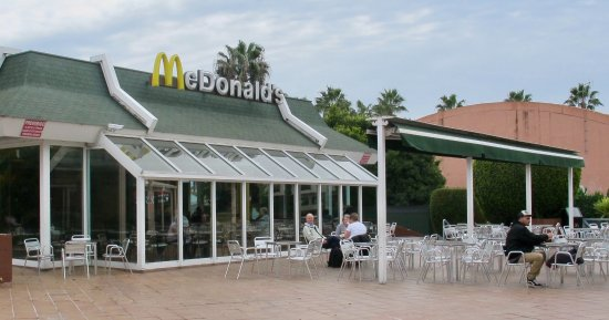 McDonald's Almunecar: Outside seating