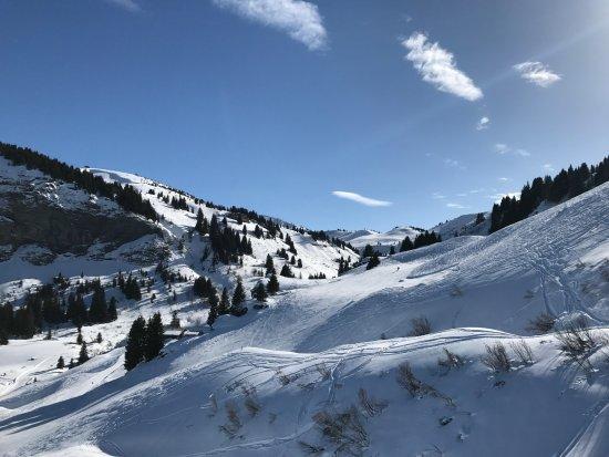 Praz Sur Arly, Francia: En haut des pistes