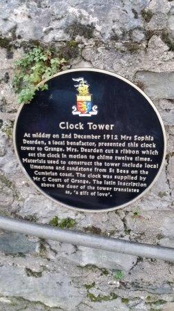 Grange-over-Sands, UK: Information plaque