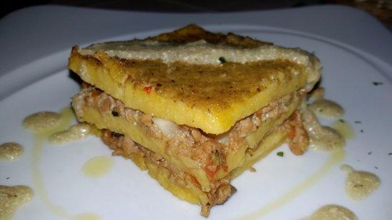 Penne, Italia: Lasagna di polenta vegan